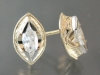 Marquis diamond earrings
