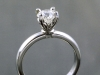 Platinum solitaire with hand built crown