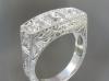 Art deco style white gold diamond ring