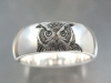 Hand engraved owl