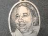Hand engraved portrait on sterling