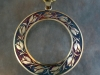 Tulip theme engraved pendant