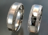 Beveled edge bands with hand engraved borders