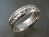 14K white gold hand engraved band