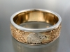 14K two tone band eagle theme